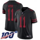 Cheap Nike 49ers #11 Brandon Aiyuk Black Alternate Youth Stitched NFL 100th Season Vapor Untouchable Limited Jersey