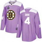 Cheap Adidas Bruins #4 Bobby Orr Purple Authentic Fights Cancer Stanley Cup Final Bound Youth Stitched NHL Jersey