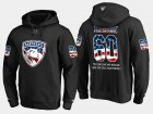 Cheap Panthers #60 Jose Theodore NHL Banner Wave Usa Flag Black Hoodie