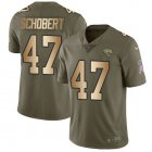 Cheap Nike Jaguars #47 Joe Schobert Olive/Gold Youth Stitched NFL Limited 2017 Salute To Service Jersey