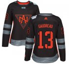 Cheap Team North America #13 Johnny Gaudreau Black 2016 World Cup Women's Stitched NHL Jersey