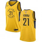 Cheap Nike Pacers #21 Thaddeus Young Gold NBA Swingman Statement Edition Jersey