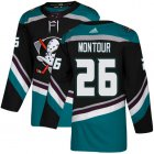 Cheap Adidas Ducks #26 Brandon Montour Black/Teal Alternate Authentic Youth Stitched NHL Jersey