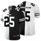 Cheap Kansas City Chiefs #25 Clyde Edwards-Helaire Men's Black V White Peace Split Nike Vapor Untouchable Limited NFL Jersey