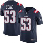 Cheap Nike Patriots #53 Josh Uche Navy Blue Youth Stitched NFL Limited Rush Jersey
