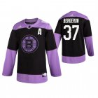 Cheap Adidas Bruins #37 Patrice Bergeron Men's Black Hockey Fights Cancer Practice NHL Jersey
