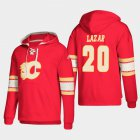 Cheap Calgary Flames #20 Curtis Lazar Red adidas Lace-Up Pullover Hoodie