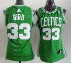 Cheap Boston Celtics #33 Larry Bird Green Womens Jersey
