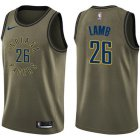 Cheap Nike Pacers #26 Jeremy Lamb Green Salute to Service NBA Swingman Jersey