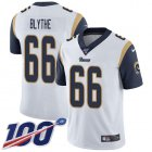 Cheap Nike Rams #66 Austin Blythe White Men's Stitched NFL 100th Season Vapor Untouchable Limited Jersey
