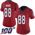 Cheap Nike Texans #88 Jordan Akins Red Alternate Women's Stitched NFL 100th Season Vapor Untouchable Limited Jersey