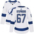 Cheap Adidas Lightning #67 Mitchell Stephens White Road Authentic Women's Stitched NHL Jersey