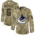 Cheap Adidas Canucks #6 Brock Boeser Camo Authentic Stitched NHL Jersey
