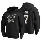 Cheap New Orleans Saints #7 Taysom Hill 2019 NFC South Division Champions Black Cover Two Hoodie