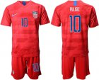 Cheap USA #10 Pulisic Away Soccer Country Jersey