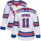 Cheap Adidas Rangers #11 Mark Messier White Road Authentic Women's Stitched NHL Jersey