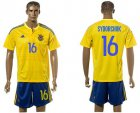 Cheap Ukraine #16 Sydorchuk Home Soccer Country Jersey