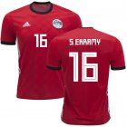 Cheap Egypt #16 S.Ekramy Red Home Soccer Country Jersey