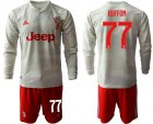 Cheap Juventus #77 Buffon Away Long Sleeves Soccer Club Jersey