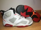 Cheap Womens Jordan 6 Bugs Bunny White/Grey-Gym Red-Black