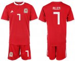 Cheap Wales #7 Allen Red Home Soccer Club Jersey