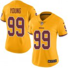 Cheap Nike Redskins #99 Chase Young Gold Women's Stitched NFL Limited Rush Jersey