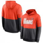 Cheap Cleveland Browns Nike Sideline Impact Lockup Performance Pullover Hoodie Orange Charcoal