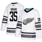 Cheap Adidas Red Wings #35 Jimmy Howard White Authentic 2019 All-Star Stitched Youth NHL Jersey