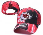Cheap Chiefs Team Logo Red Black Peaked Adjustable Fashion Hat YD