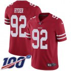 Cheap Nike 49ers #92 Kerry Hyder Red Team Color Youth Stitched NFL 100th Season Vapor Untouchable Limited Jersey