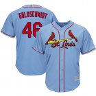 Cheap Cardinals #46 Paul Goldschmidt Light Blue Cool Base Stitched Youth MLB Jersey