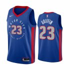 Cheap Nike Pistons #23 Blake Griffin Blue NBA Swingman 2020-21 City Edition Jersey
