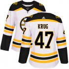 Cheap Adidas Bruins #47 Torey Krug White Road Authentic Women's Stitched NHL Jersey
