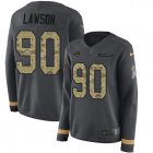 Cheap Nike Dolphins #90 Shaq Lawson Anthracite Salute to Service Women's Stitched NFL Limited Therma Long Sleeve Jersey