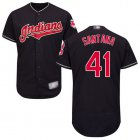 Cheap Indians #41 Carlos Santana Navy Blue Flexbase Authentic Collection Stitched MLB Jersey
