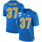 Cheap Pittsburgh Panthers 37 Qadree Ollison Blue 150th Anniversary Patch Nike College Football Jersey