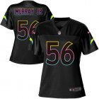 Cheap Nike Chargers #56 Kenneth Murray Jr Black Women's NFL Fashion Game Jersey