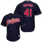 Cheap Indians #41 Carlos Santana Navy Blue New Cool Base Stitched MLB Jersey