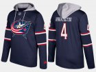 Cheap Blue Jackets #4 Scott Harrington Navy Name And Number Hoodie