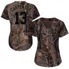 Cheap Cardinals #13 Matt Carpenter Camo Realtree Collection Cool Base Women's Stitched MLB Jersey