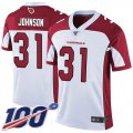 Cheap Nike Cardinals #31 David Johnson White Men's Stitched NFL 100th Season Vapor Limited Jersey