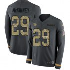 Cheap Nike Giants #29 Xavier McKinney Anthracite Salute to Service Youth Stitched NFL Limited Therma Long Sleeve Jersey