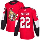Cheap Adidas Senators #22 Nikita Zaitsev Red Home Authentic Stitched NHL Jersey