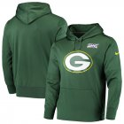 Cheap Green Bay Packers Nike 100th Season Primary Logo Circuit Performance Pullover Hoodie Green