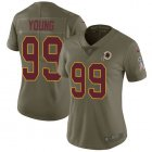Cheap Nike Redskins #99 Chase Young Olive Women's Stitched NFL Limited 2017 Salute To Service Jersey