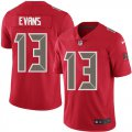 Cheap Nike Buccaneers #13 Mike Evans Red Youth Stitched NFL Limited Rush Jersey