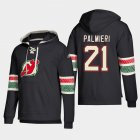 Cheap New Jersey Devils #21 Kyle Palmieri Black adidas Lace-Up Pullover Hoodie