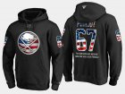 Cheap Sabres #67 Benoit Pouliot NHL Banner Wave Usa Flag Black Hoodie