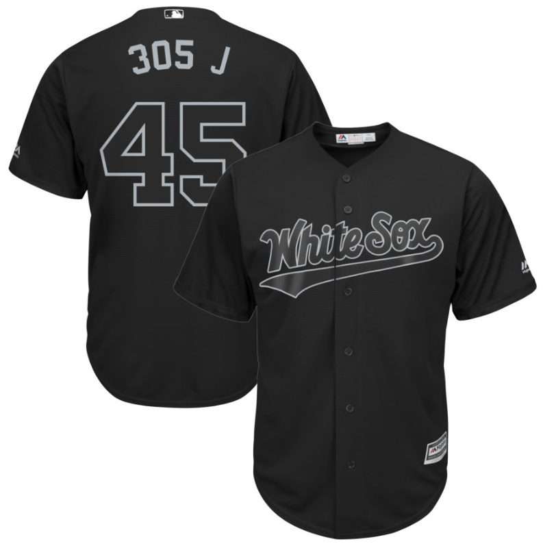 "Cheap White Sox #45 Michael Jordan Black ""305 J"" Players Weekend Cool Base Stitched MLB Jersey"