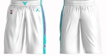 Cheap Men's Jordan Brand White Charlotte Hornets Icon Swingman Basketball Shorts